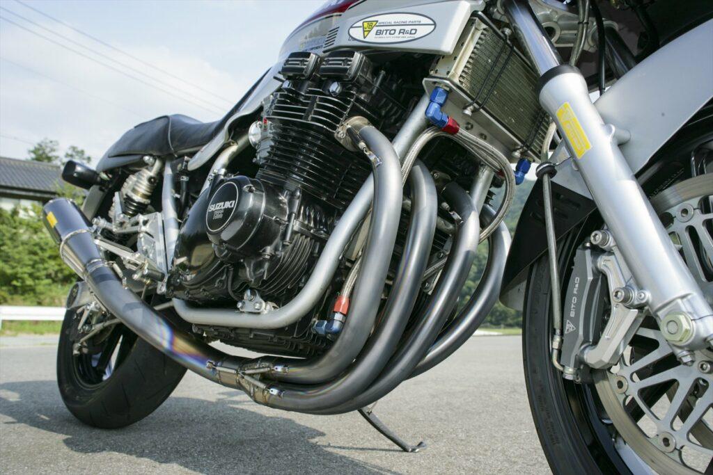 Suzuki GSX1100S, hand bend titanium exhaust system kit