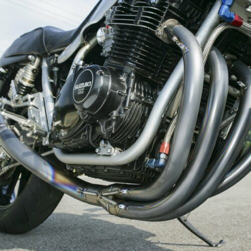 hand bend titanium exhaust system kit